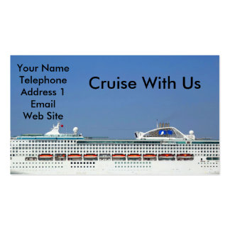 Large Mega Cruise Ship Pack Of Standard Business Cards