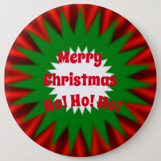 Large Merry Christmas 6 Cm Round Badge