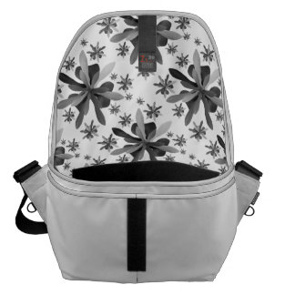 Large Messenger Bag Inside with Stylized Flower 1