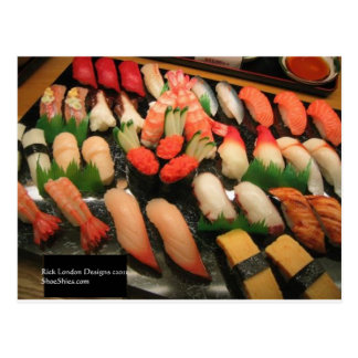 Large Mixed Sushi Plate Gifts Mugs & Collectibles Postcard