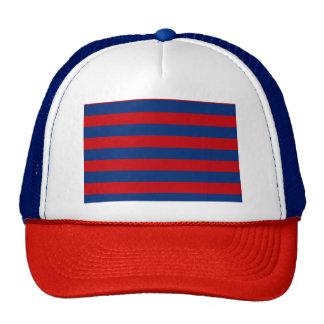 Large Modern Vibrant Horizontal Stripes Decor Cap