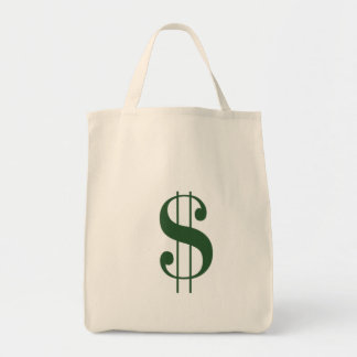 (Large $ Money Bag) Grocery Tote Grocery Tote Bag