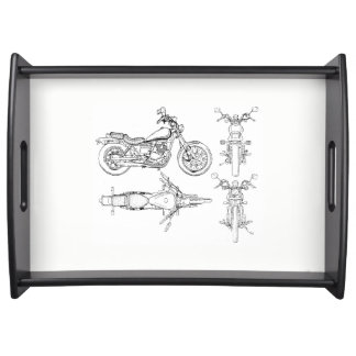 Large Motorcycle Snack Tray
