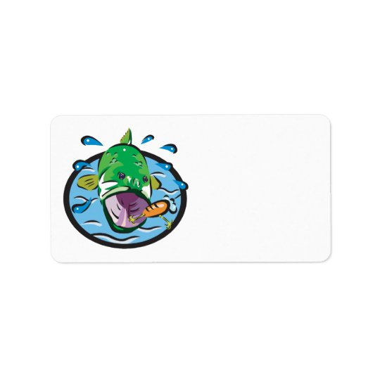Large Mouth Bass 2 Address Label