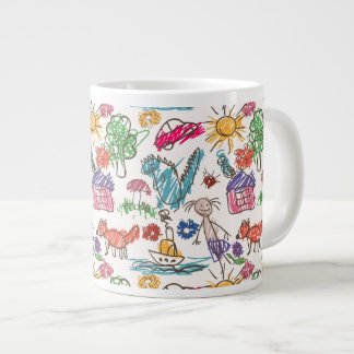 Large Mug with children's drawings
