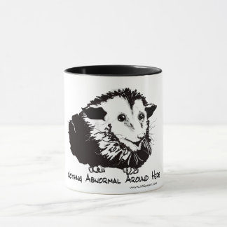 Large mug with possum image and profound sentiment