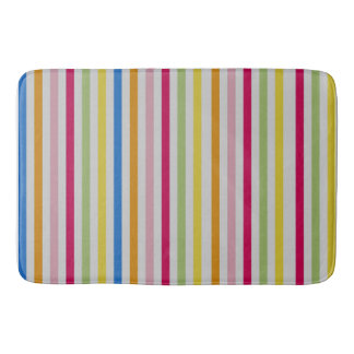Large Multi-Color Stripe Bathmat