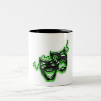 Large Neon Green Masks Mug