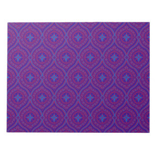 Large Notepad or Jotter, Purple and Blue Ogees
