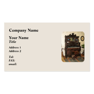 Large Organ in Parlor Business Card Template