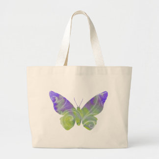 Large Pastel Butterfly Fibro Awareness Tote