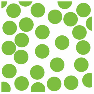 Large Pea Green Dots on White. Standing Photo Sculpture