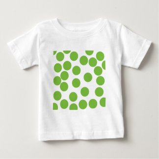 Large Pea Green Dots on White. T Shirts