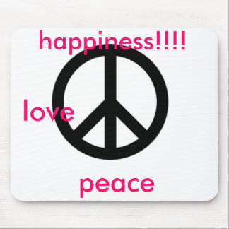 large_peace_symbol, love, peace, happiness!!!! mouse pad