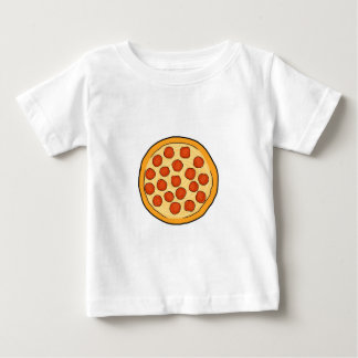 Large Pepperoni Pizza Whole Pizza Drawing Art Yum Baby T-Shirt