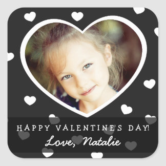 Large Personalized Valentine Photo Stickers