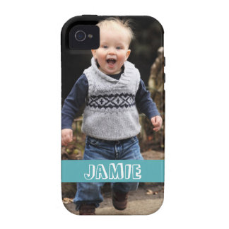 Large photo personalize your own blue band Case-Mate iPhone 4 covers