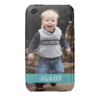 Large photo personalize your own blue band iPhone 3 case