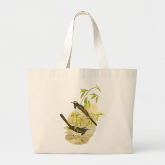 Large Pied Wagtail Tote Bags