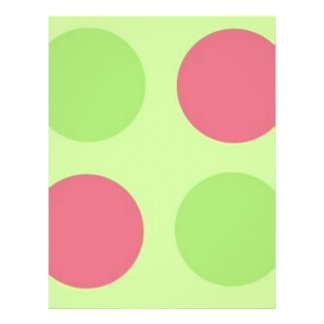 Large Pink and Green Polka Dots 21.5 Cm X 28 Cm Flyer