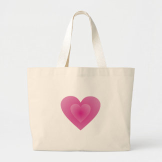 Large Pink Heart Canvas Bags