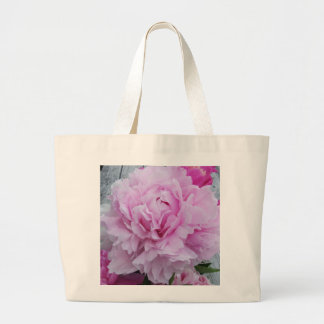 Large Pink Peony Floral Bag