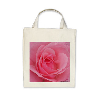 Large Pink Rose tote Bag