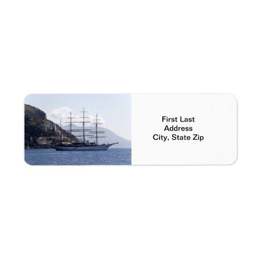 Large Pirate Ship Return Address Label
