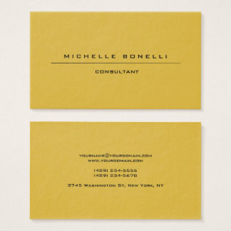 Large Plain Unique Special Gold Color Background Business Card