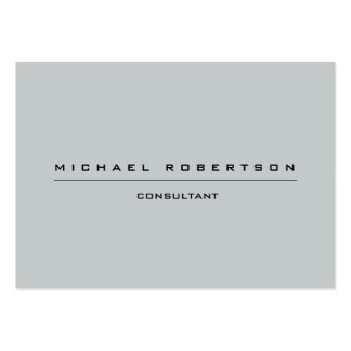 Large Plain Unique Special Grey Large Business Cards (Pack Of 100)