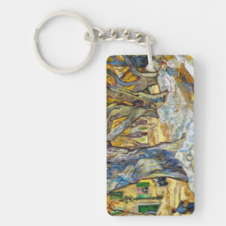 Large Plane Trees by Vincent Van Gogh Key Ring