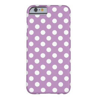 Large Polka Dot Purple iPhone 6 case Barely There iPhone 6 Case