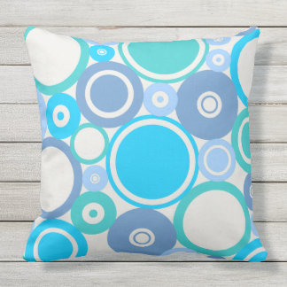 Large Polka Dots Beach theme Outdoor Pillow