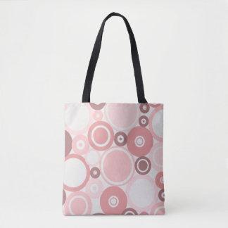 Large Polka Dots Peach theme Tote Bag
