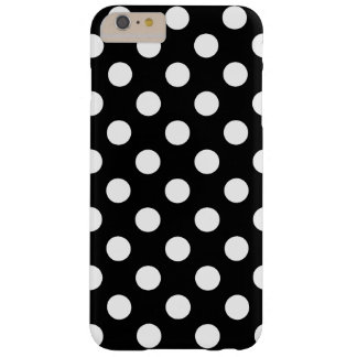 Large Polka Dots trend Design black and white, Barely There iPhone 6 Plus Case