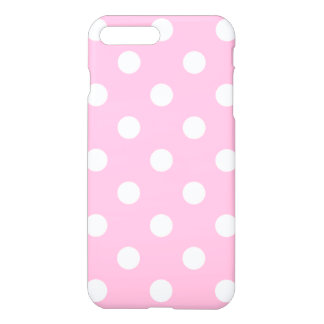 Large Polka Dots - White on Cotton Candy iPhone 7 Plus Case
