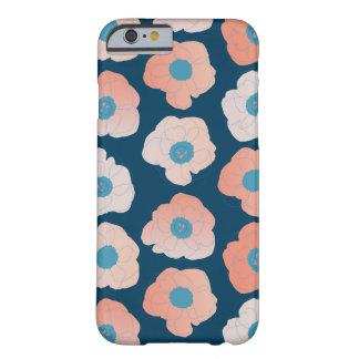 large poppy pop pop peach on navy barely there iPhone 6 case