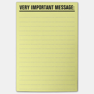 Large Post-It Notes with lined paper
