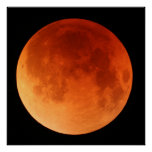 Large poster of the 2011 Lunar Eclipse red moon