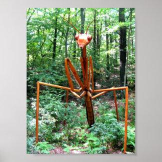 Large Praying Mantis Poster