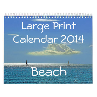 Large Print Calendar 2014 - Beach
