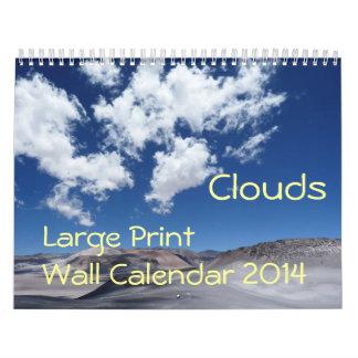 Large Print Wall Calendar 2014 - Clouds