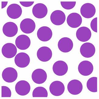 Large Purple Dots on White Custom Photo Sculpture