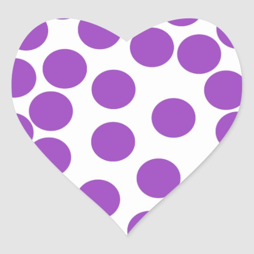 Large Purple Dots on White. Stickers