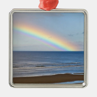 Large rainbow over the Pacific Ocean at Silver-Colored Square Decoration
