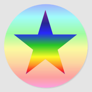 Large rainbow star stickers sheet