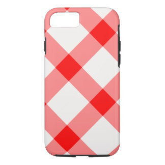 Large Red and White Gingham Pattern Phone Case