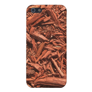Large red cedar mulch pattern landscape contractor case for iPhone 5/5S