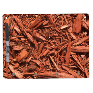 Large red cedar mulch pattern landscape contractor dry erase board with key ring holder