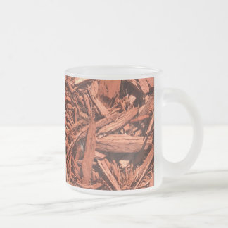Large red cedar mulch pattern landscape contractor frosted glass coffee mug
